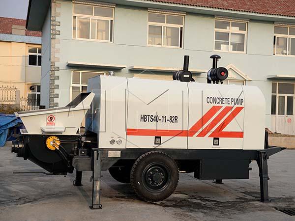 HBTS40-11-82R дизельный прицепной бетононасос