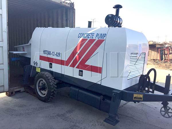 HBTS60-12-82R дизельный прицепной бетононасос