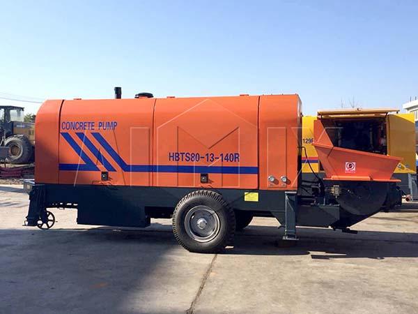 HBTS80-13-140R бетононасос прицепной для продажи