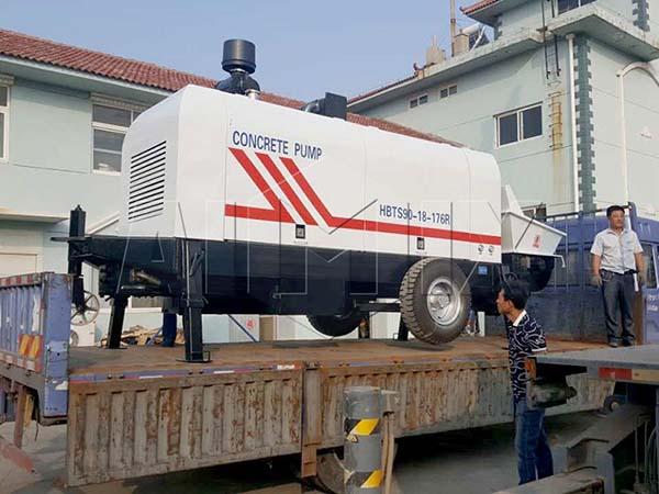 HBTS90-18-176R прицепный бетононасос в Вьетнам