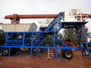YHZS25 передвижной мини бетонный завод