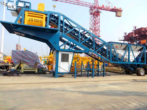 YHZS50 мобильные бетоносмесительные установки