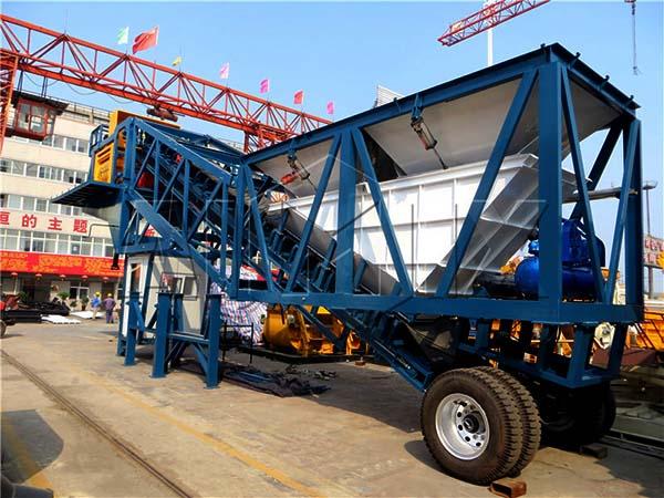 Мобильный бетонный завод 50 м3/ч