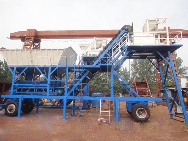 мобильный бетонный завод цена YHZS25