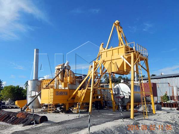 передвижной мини асфальтобетонный завод Китая