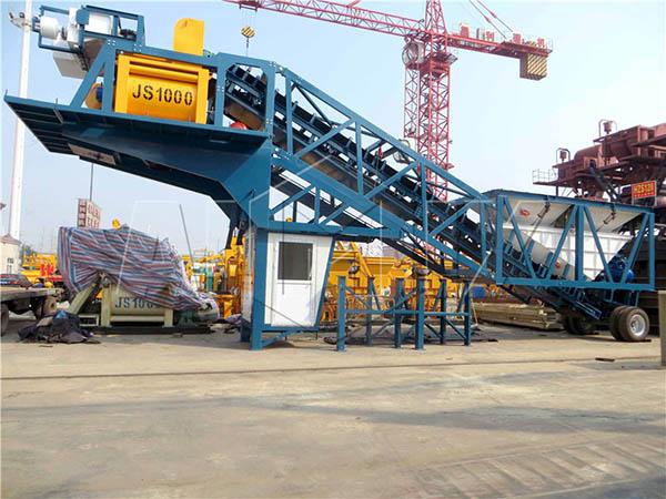 бетонный узел передвижной из Китая для продажи