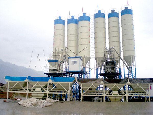 стационарные бетонные станции 2HZS