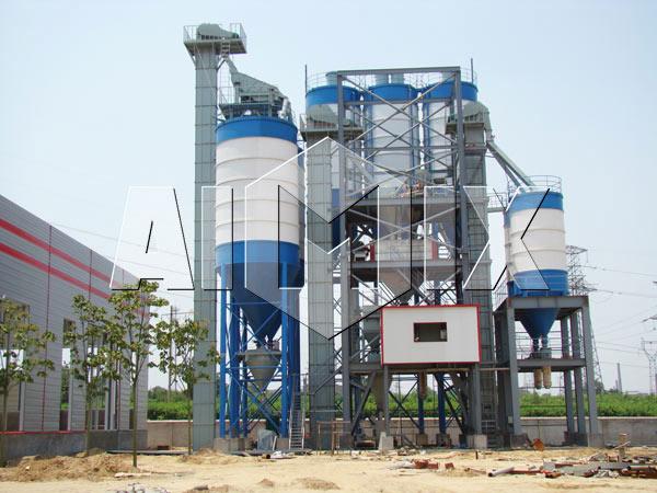 линия по производству сухих строительных смесей китай