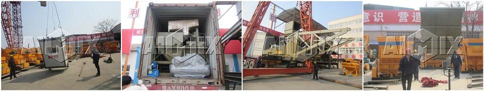 Мобильный бетонный завод 60 м3/ч у производителя китая на Узбекистан