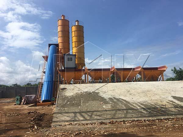 бетоносмесительный завод HZS60 был установлен на Шри Ланке