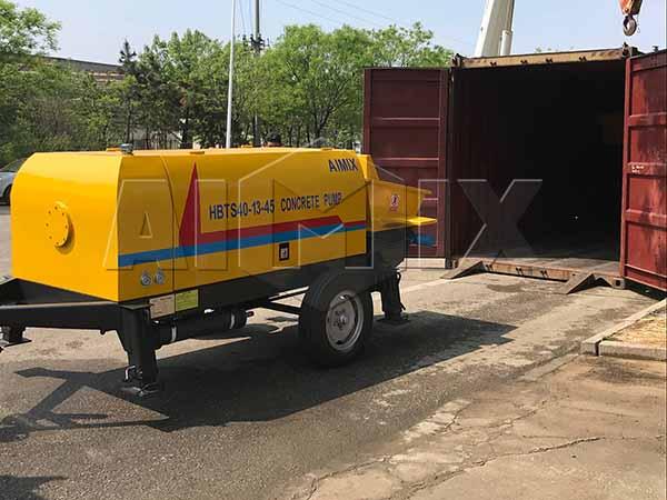 AIMIX HBTS40-13-45 прицепной бетононасос транспортировал на Казахстан