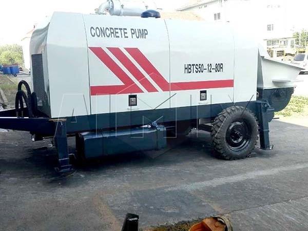 HBTS50-12-80R дизельный прицепной бетононасос