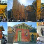Стационарный бетонный завод HZS60 установлен и введен в эксплуатацию в Индонезии