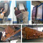 Стационарный бетонный завод 50 м3 в час был отправлен на Узбекистан