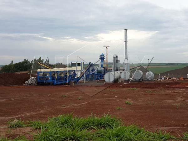 мобильный асфальтный завод 60 тонн