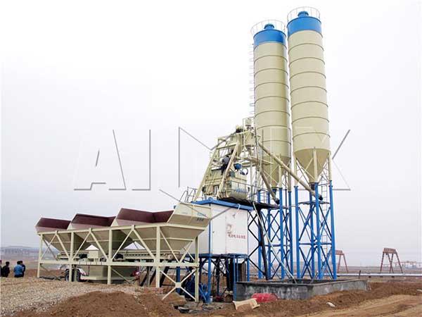 HZS75 завод по производству бетона