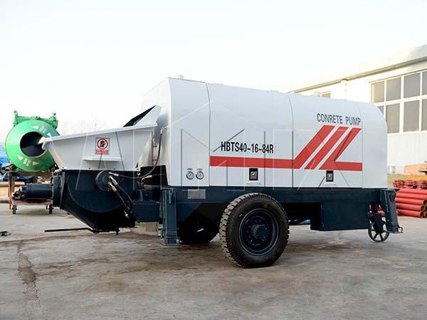 HBTS40-SR бетононасос прицепной дизельный