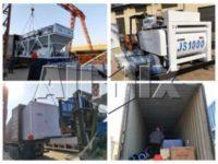 Бетонный завод 50 м3/у был отправлен на Таджикистан