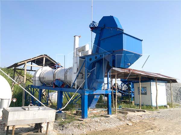 Передвижной мини асфальтобетонный завод DHB40