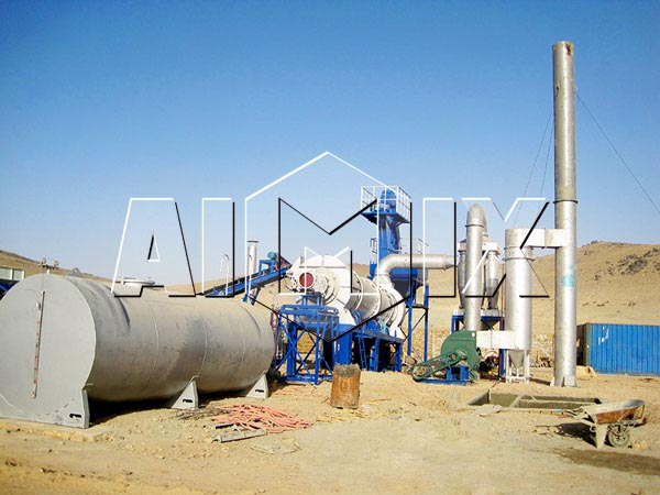Передвижной асфальтобетонный завод QLBY20