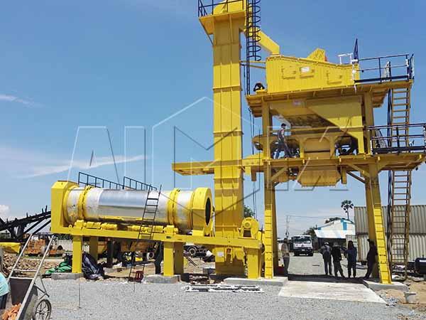 Передвижный асфальтобетонный завод YLB1000