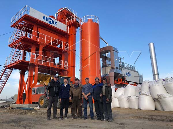 Асфальтный завод в Росиии