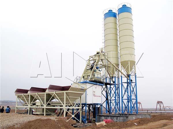 Стационарный бетонный завод 75 м3/ч