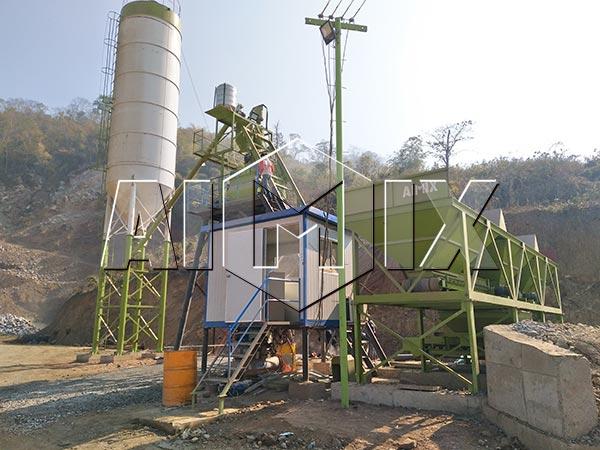Мини бетонная установка в Лаосе