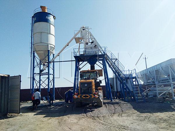 Мини бетонный завод китай