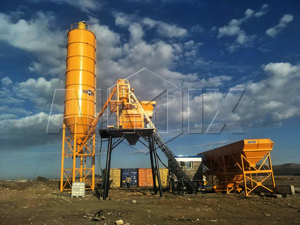 Стационарный бетонный завод 50 м3/ч в Узбекистане