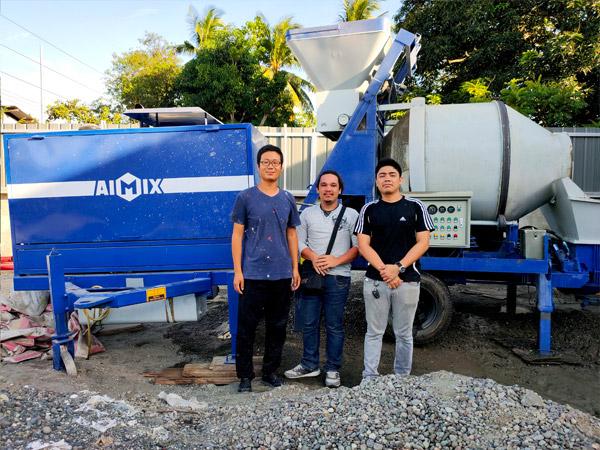 Бетономешалка с насосом на Филиппинах